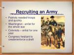 recruiting an army