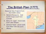 the british plan 1777