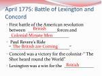 april 1775 battle of lexington and concord