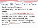 january 1776 paine s common sense