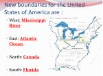 new boundaries for the united states of america are