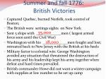 summer and fall 1776 british victories