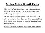 further notes growth zones