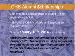 chs alumni cholarships