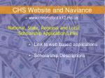 chs website and naviance