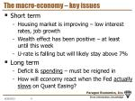 the macro economy key issues