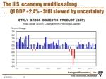 the u s economy muddles along