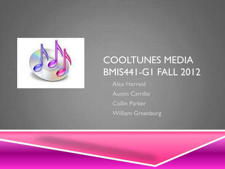 cooltunes media bmis441 g1 fall 2012