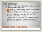 acute care teaching