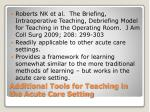additional tools for teaching in the acute care setting