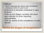 define the stages of competency
