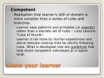 know your learner4
