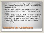 teaching the competent