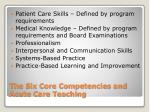 the six core competencies and acute care teaching