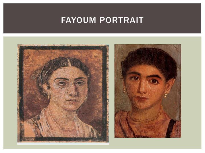 Fayoum portrait