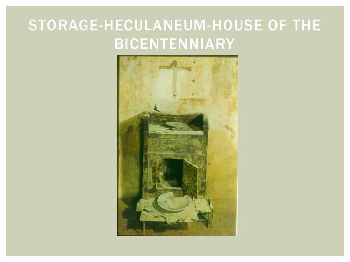 Storage-Heculaneum-House of the Bicentenniary