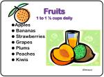 fruits 1 to 1 cups daily