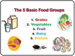 the 5 basic food groups
