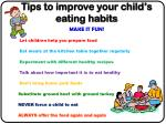 tips to improve your child s eating habits