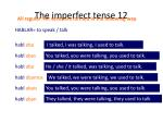 the imperfect tense 12
