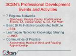 3csn s professional development events and activities
