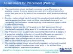 assessment for placement writing