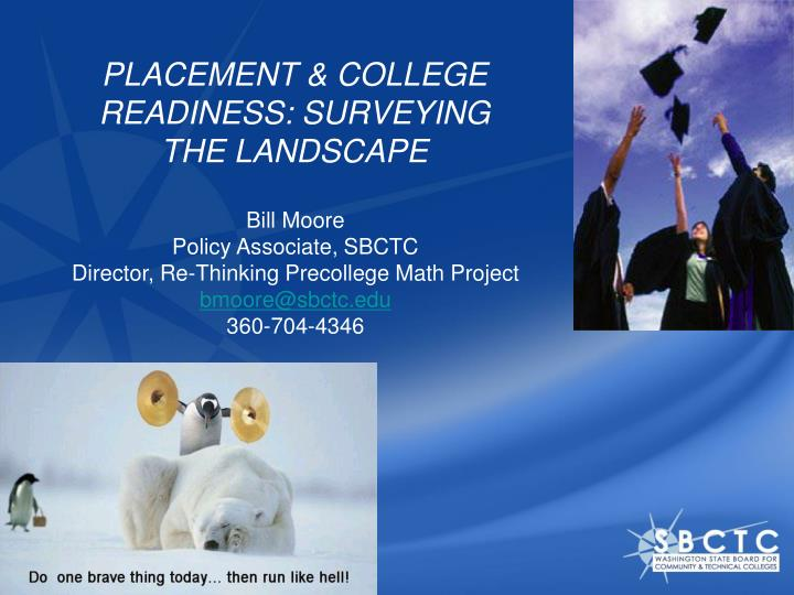 placement college readiness surveying the landscape n.