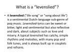 what is a levenslied