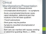 clinical manifestations presentation