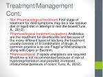 treatment management cont