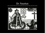 dr faustus from a woodcut illustration of christopher marlowe s play of the same name 1592