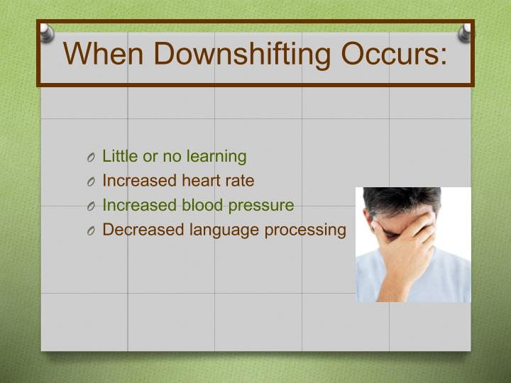 When Downshifting Occurs: