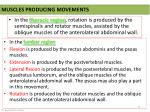muscles producing movements
