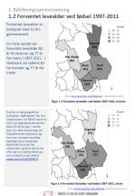 1 befolkningssammensetning 1 2 forventet levealder ved f dsel 1997 2011