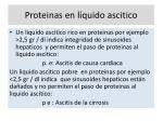 proteinas en l quido ascitico