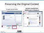 preserving the original context2