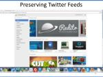 preserving twitter feeds