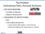the problem institutional tools personal archivists