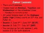 junior lessons