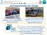 and opportunities for change