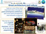 g reat architecture and culture
