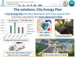 the solutions city energy plan
