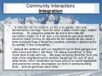 community interactions integration