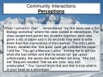 community interactions perceptions1
