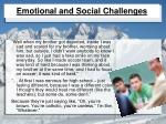 emotional and social challenges