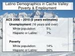 latino demographics in cache valley poverty employment