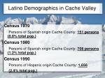 latino demographics in cache valley