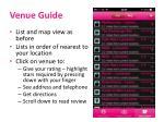 venue guide