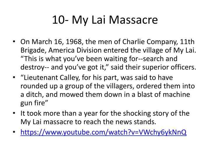 10- My Lai Massacre