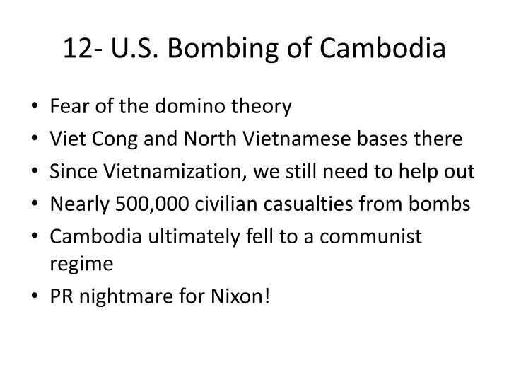 12- U.S. Bombing of Cambodia